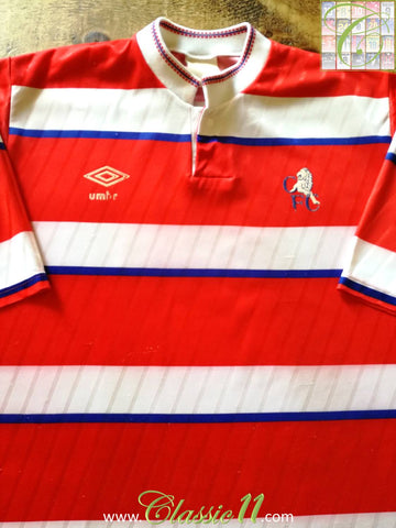1988/89 Chelsea Away Football Shirt (L)