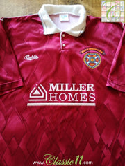 1990/91 Hearts Home Football Shirt (S)