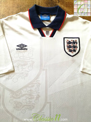 1993/94 England Home Football Shirt (XL)