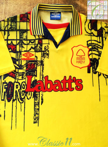 1995/96 Nottingham Forest Away Football Shirt (L)