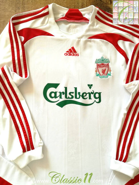 4c46da91ca5 2007 08 Liverpool Away Football Shirt   Vintage Soccer Jersey ...