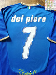 2008/09 Italy Home Football Shirt Del Piero #7 (XL)
