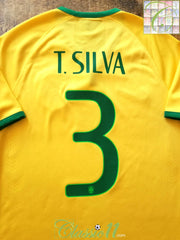 2014/15 Brazil Home Player Issue Football Shirt T.Silva #3 (M)