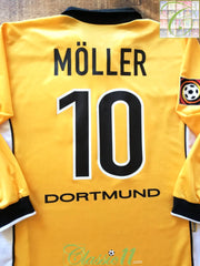 1998/99 Borussia Dortmund Home Bundesliga Player Issue Football Shirt Möller #10 (XL)