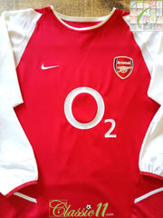 2002/03 Arsenal Home Football Shirt. (L)