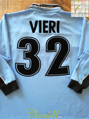 1998/99 Lazio Home Football Shirt Vieir #32. (L)
