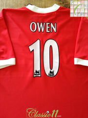 1998/99 Liverpool Home Premier League Football Shirt Owen #10 (L)