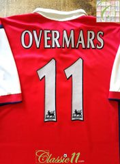 1998/99 Arsenal Home Premier League Football Shirt Overmars #11 (XL)