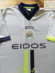 2000/01 Man City Away Football Shirt (L)