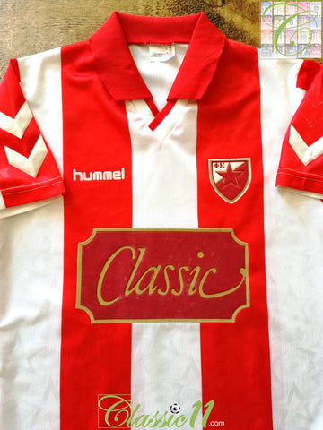 1991/92 Red Star Belgrade Home Football Shirt (L)