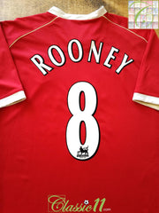 2006/07 Man Utd Home Premier League Football Shirt Rooney #8 (XL)