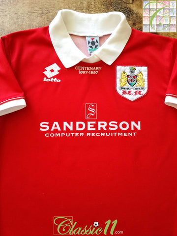 1996/97 Bristol City Home Football Shirt (B)