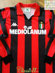 1988/89 AC Milan Home Scudetto Football Shirt (XS)