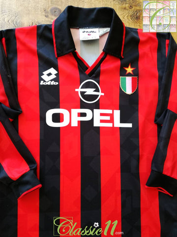 1994/95 AC Milan Home Scudetto Football Shirt. (B)