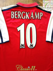 2000/01 Arsenal Home Premier League Football Shirt Bergkamp #10 (XL)