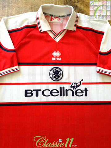 2000/01 Middlesbrough Home Football Shirt (XXL)