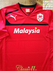 2012/13 Cardiff City Home Football Shirt (M)