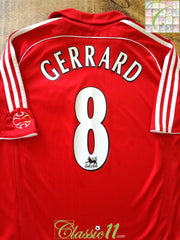 2006/07 Liverpool Home Premier League Football Shirt Gerrard #8 (B)