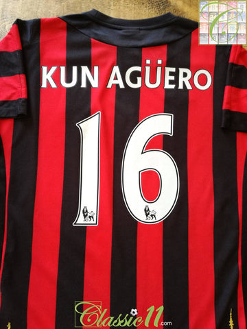 2011/12 Man City Away Premier League Football Shirt Kun Agüero #16 (M)