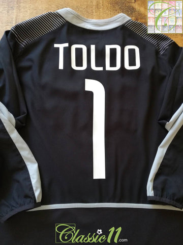 2002/03 Internazionale Goalkeeper Football Shirt Toldo #1 (XL)