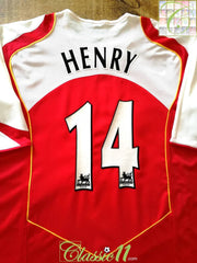2004/05 Arsenal Home Premier League Football Shirt Henry #14 (XXL)