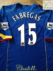 2004/05 Arsenal Away Premier League Football Shirt Fabregas #15 (XXL)