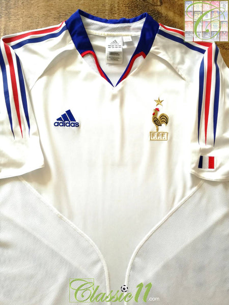 dc6ec370ec5 2004/05 France Away Football Shirt / Old Vintage Adidas Soccer ...