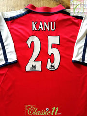 2000/01 Arsenal Home Premier League Football Shirt Kanu #25 (XXL)