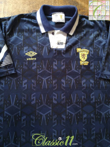 1991/92 Scotland Home Football Shirt (L)