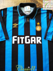 1991/92 Internazionale Home Football Shirt (XL)