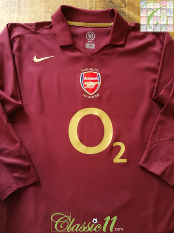 2005/06 Arsenal Home Football Shirt. (L)