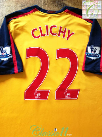 2008/09 Arsenal Away Premier League Football Shirt Clichy #22 (XL)