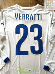 2014/15 Italy Away Pro-Fit Football Shirt Verratti #23. (M)