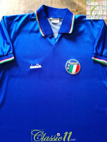 1986/87 Italy Home Football Shirt (M)