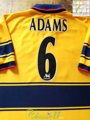 1997/98 Arsenal Away Premier League Football Shirt Adams #6 (XXL)