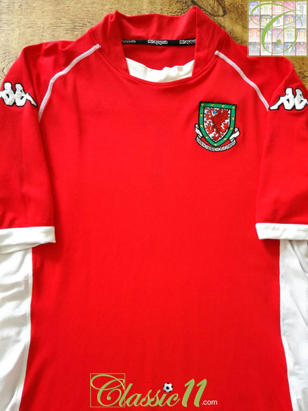 dc36d036f5b 2002/03 Wales Home Football Shirt / Old Kappa Official Soccer Jersey ...