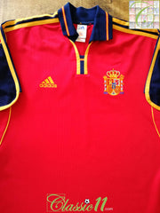 2000/01 Spain Home Football Shirt (S)