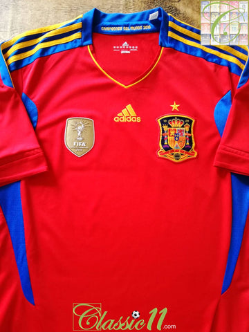 2010/11 Spain Home World Champions Football Shirt (L)