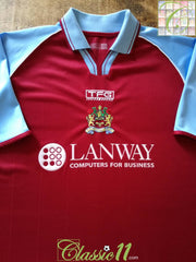 2002/03 Burnley Home Football Shirt (L)
