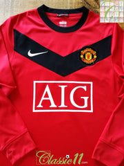 2009/10 Man Utd Home Football Shirt. (M)