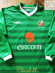 2003/04 Republic of Ireland Home Football Shirt. (M)