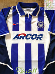 2002/03 Hertha Berlin Home Football Shirt (M)