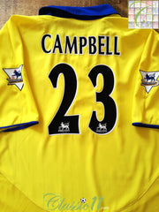 2003/04 Arsenal Away Premier League Football Shirt Campbell #23 (XXL)