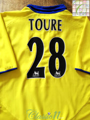 2003/04 Arsenal Away Premier League Football Shirt Toure #28 (XL)