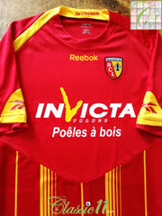 2009/10 RC Lens Home Football Shirt (S)