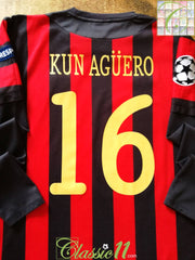 2011/12 Man City Away Champions League Football Shirt Kun Agüero #16. (L)