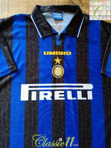 1996/97 Internazionale Home Football Shirt (L)