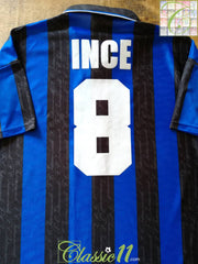 1996/97 Internazionale Home Football Shirt Ince #8 (L)