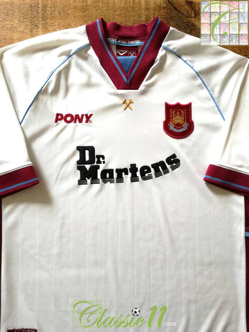 1998/99 West Ham Away Football Shirt (XL)