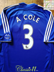 2007/08 Chelsea Home Premier League Football Shirt A Cole #3 (M)